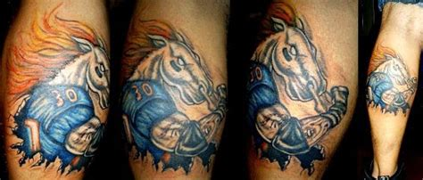 Photos Top Ten Most Unusual Denver Broncos Tattoos Westword Denver Broncos Tattoos