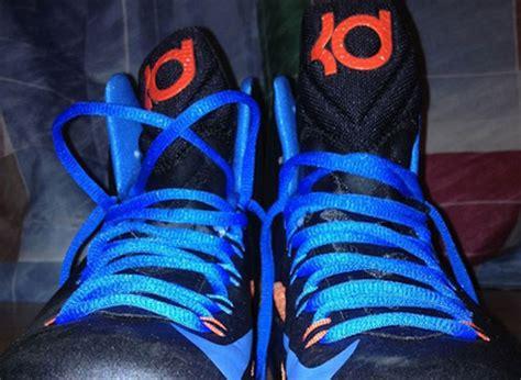 blue and orange kd 5 nike zoom kd v black blue orange sneakernews