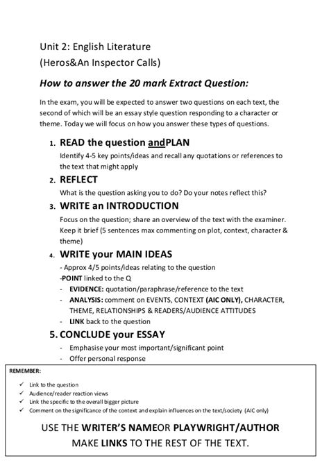 how to write a literature paper how to answer the 20 essay question