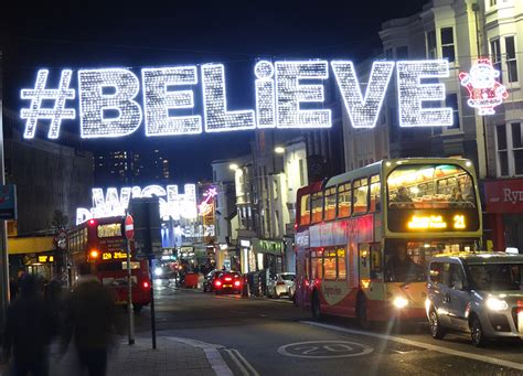 brighton christmas lights reflect the city s personality