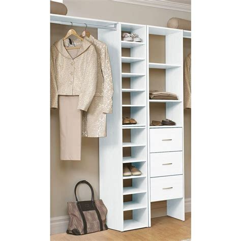 Closetmaid White Shelf Closetmaid Selectives 41 1 2 In White Stackable 7 Shelf