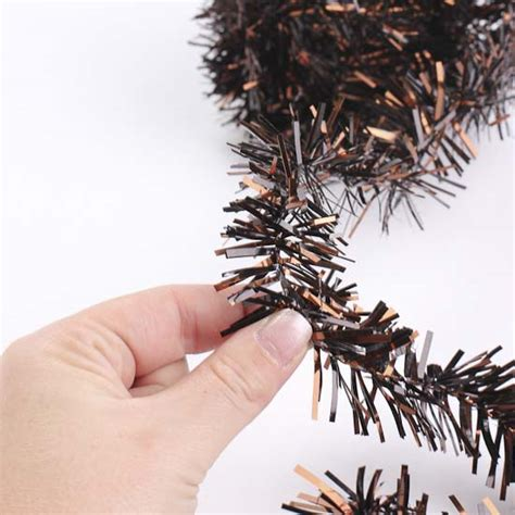 pvc brown rope tinsel garland christmas garlands