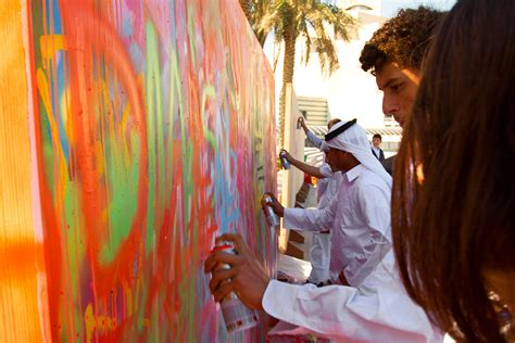 spray painter in qatar el seed arabic inspired painting just another
