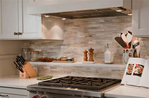 Pictures Of Backsplashes In Kitchen by Marble Tile Backsplash Neutrals Kitchen Decor Olpos Design