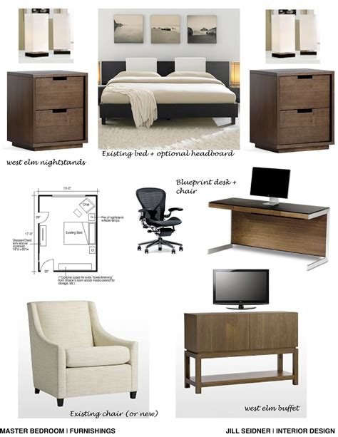 home design board concept board for a bedroom office work space