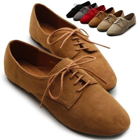 colored oxford shoes ollio womens ballet flat shoes faux suede lace ups multi