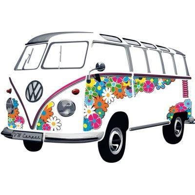 vw bulli t1 samba bus 1962 flower hippie wandtattoo bestellen