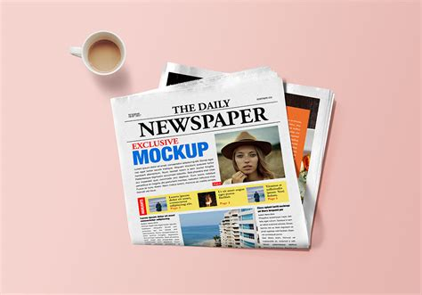 photoshop template news newspaper mockup psd graphicsfuel