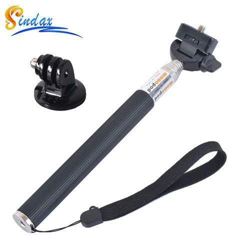 Tongsis Monopod Aluminium Gopro Xiaomi Yi Xia Promo for gopro monopod tripod selfie stick monopod tripod mount adapter sj4000 for xiaomi yi