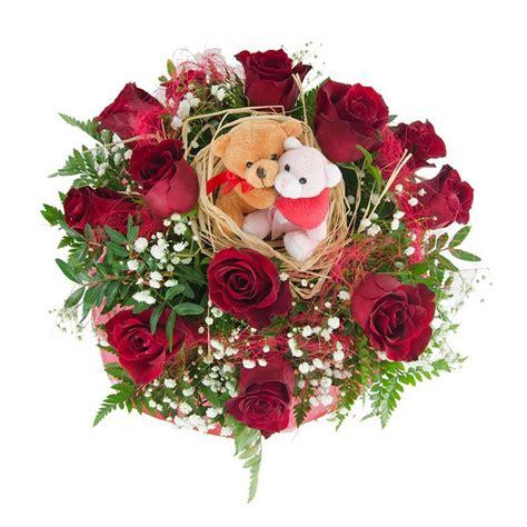 imagenes de rosas y peluches ramo de rosas con peluches enviofloresvalencia com