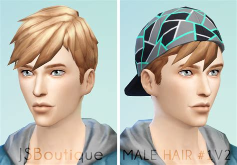 sims 4 male hairstyles male hair 1v2 jsboutique sims 4 creations