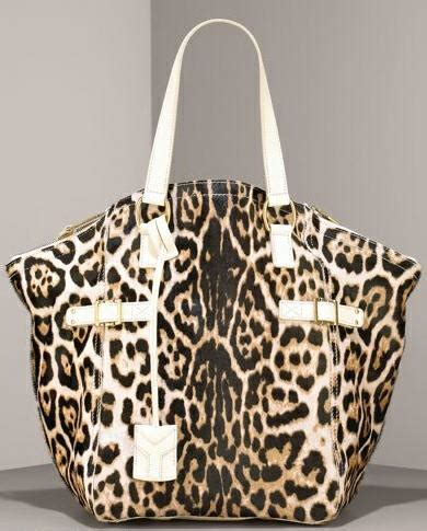 Yves Laurent Downtown Leopard Print Media Tote by Animal Print Cakes
