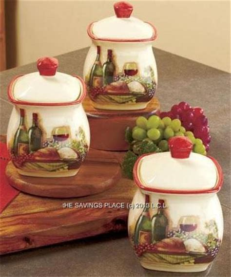 tuscan kitchen canister sets tuscan inspired vineyard kitchen canister set spice rack or utensil holder ebay