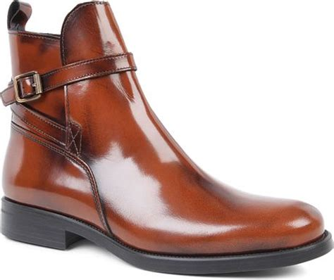 kurt geiger sutherland leather ankle boots in brown lyst