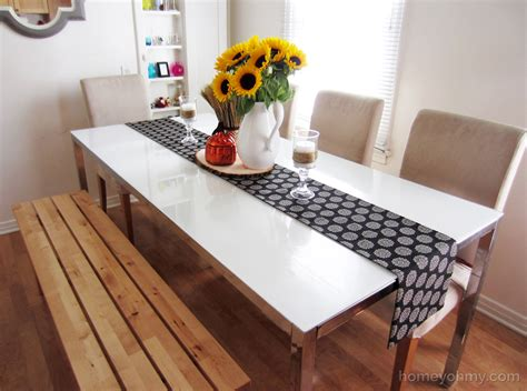 Diy Dining Room Tables by Diy No Sew Table Runner Homey Oh My