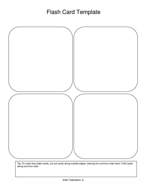 card templates pdf flash card template beepmunk