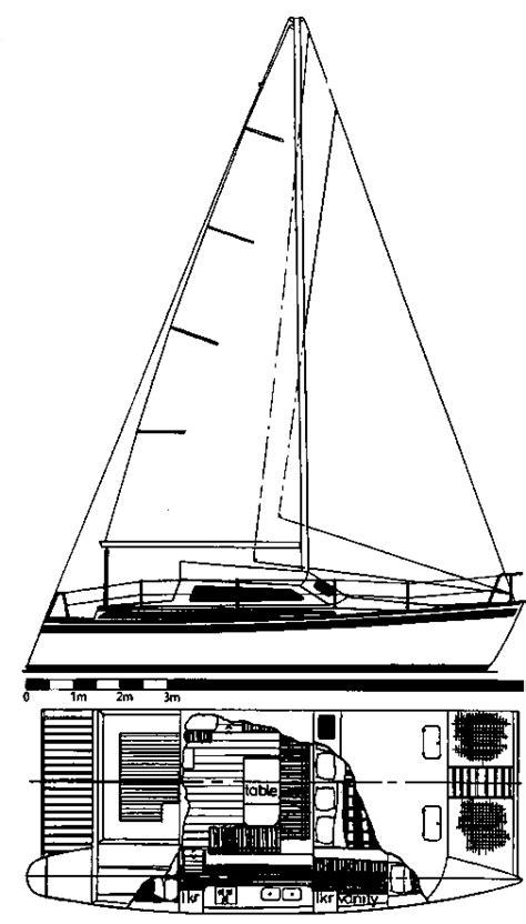 catamaran lines drawing flica 34 ocean cruising catamaran