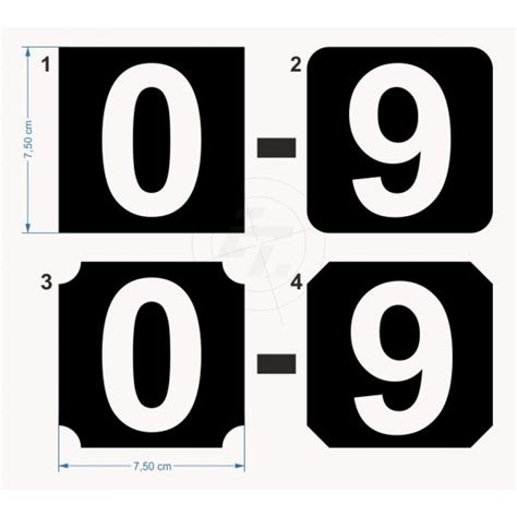 Aufkleber Zahlen by Zahlensets Selbstklebend Ausgeschnittene Ziffer