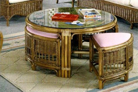 Rattan Coffee Table With Stools by Classic Rattan Coffee Table W Stools Summers Patio