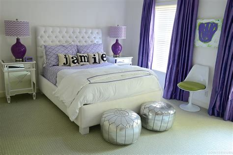 purple bedroom ideas for teenagers glam teen girl s bedroom with purple patterns and silver 19551 | 1437402213573
