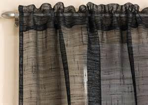 Black Lace Curtains Sparkle Voile Curtain Panel Linen Lace Curtains Single Panel Black White Ebay