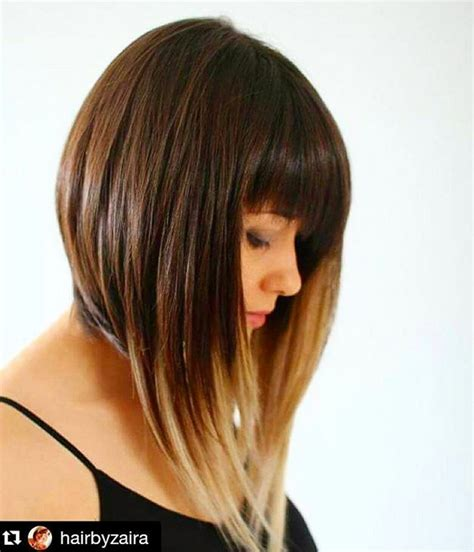 pictures of a line haircuts with bangs 21 totally chic short bob haircuts hairstyles with bangs