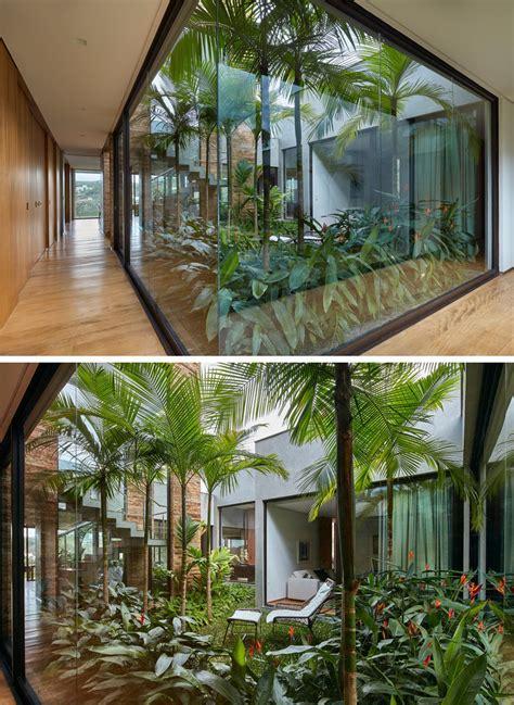 interior garden ideas david guerra designs a home in brazil for a family that enjoys entertaining friends contemporist