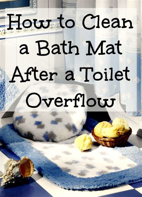how to clean a bath mat after a toilet overflow home ec 101