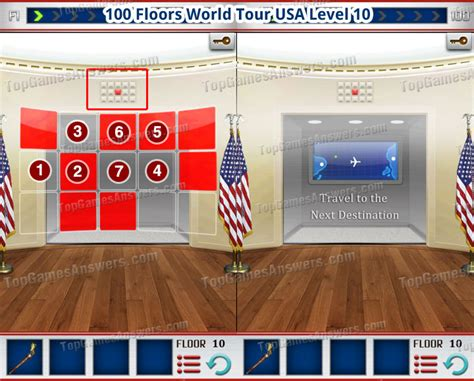 100 Floors Level 10 by 100 Floors World Tour All Level Walkthrough Top Answers Page 10