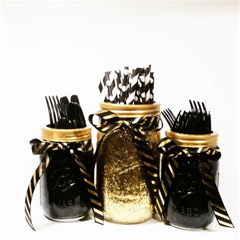 black and gold centerpieces new years decor birthday decorations black and gold