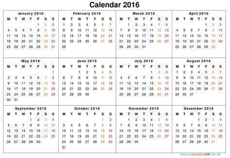 printable calendar 2016 full year 2016 yearly calendar template calendar picture templates