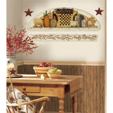 new stars berries wall decals country kitchen stickers new primitive arch wall decals country kitchen stars