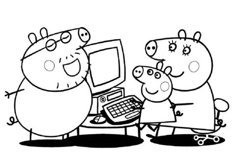 mama pig coloring page cerdita peppa imprimir peppa pig para colorear