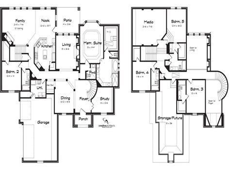 Six Bedroom House Plans by 5 Bedroom House Plans 2 Story Photos And