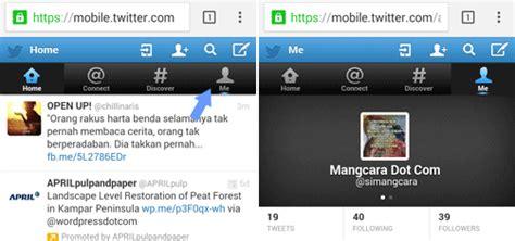 cara membuat twitter lewat laptop cara mengganti username twitter lewat hp android dan pc