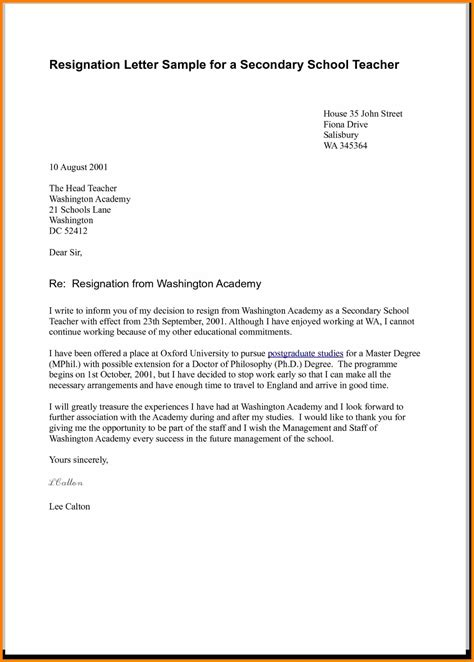 Resignation Letter Uk Tes 5 Resignation Letter Uk Science Resume