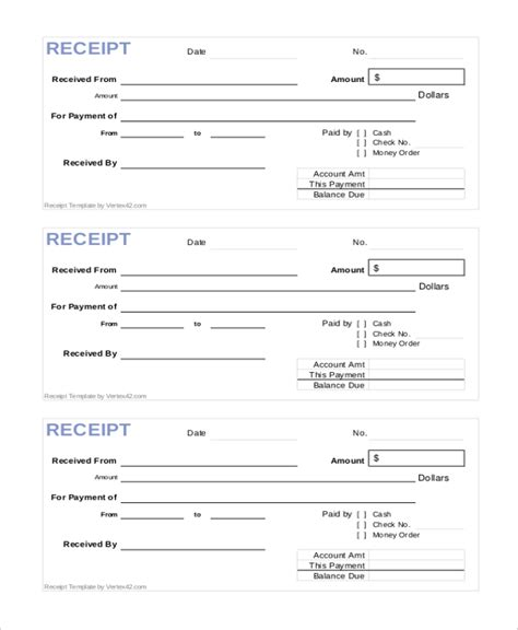html printable receipt sle printable receipt form 10 free documents in pdf