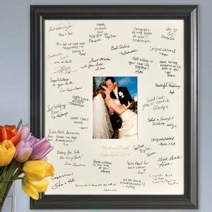 Laser Engraved Wedding Wishes Signature Frame