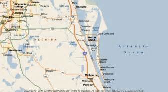 Cocoa Beach Florida Map by Map Of Cocoa Beach