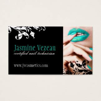 Nail Technician Business Cards Templates Zazzle Nail Business Cards Templates