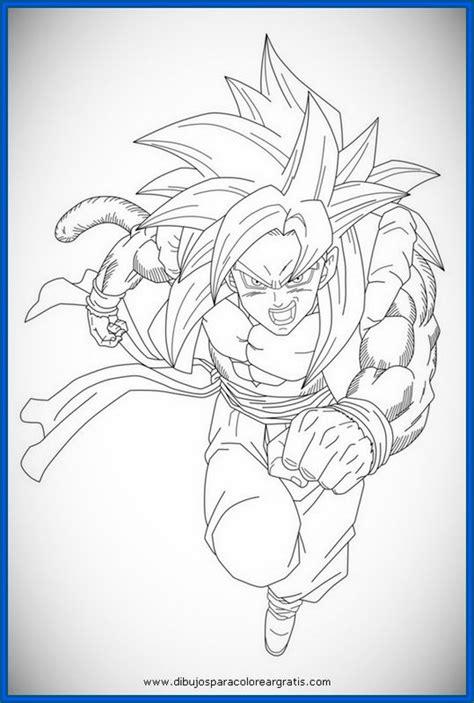 imagenes para pintar a goku goku ssj4 colorear imagui