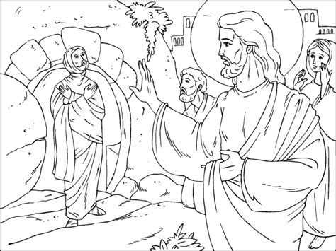 coloring pictures of jesus raising lazarus coloring pages