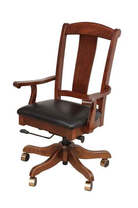 Amish Desk Chair by Amish Handcrafted And Custom Office Desk Chairs