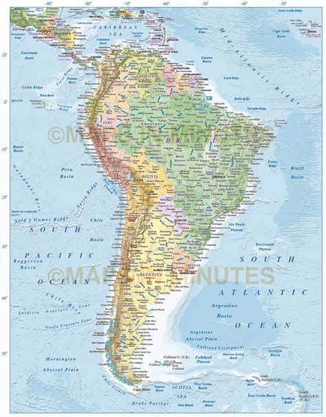 america map view digital vector and south america political map