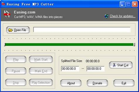 download mp3 cutter mixer eusing free mp3 cutter cut mp3 wav wma files into
