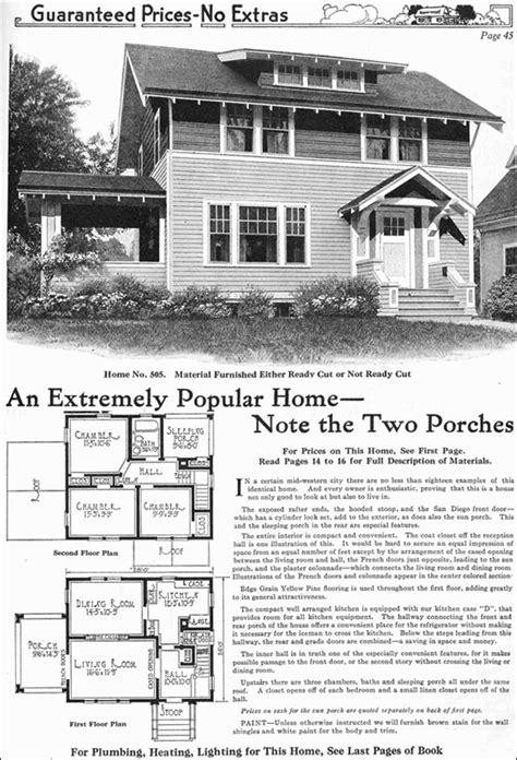 Model No 505 1918 Gordon Van Tine Two Story Side Gordon Tine House Plans