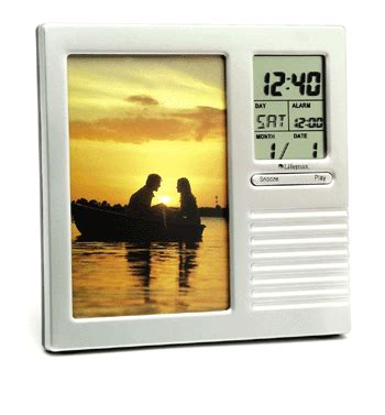 Alarm Clock With Talking Picture Frame by Talking Clock