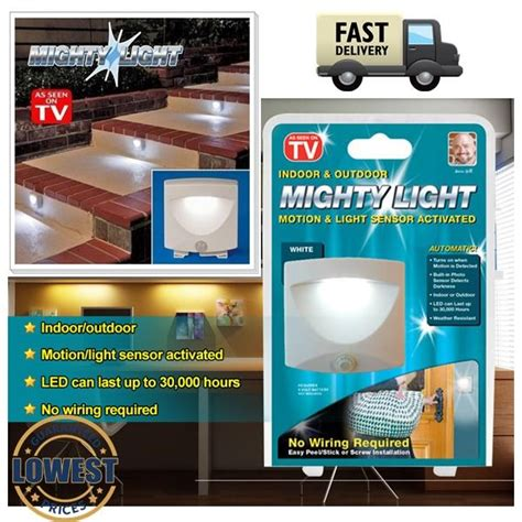 mighty light motion activated sensor led light asot mighty light indoor outdoor m end 7 15 2018 1 15 pm