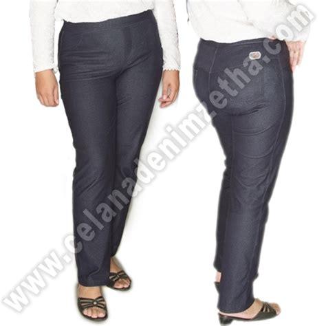 Harga Celana Merk Zetha celana zetha denim warna navy celana denim zetha