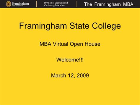 Commonwealth Executive Mba In Bangladesh Open by Framingham State College